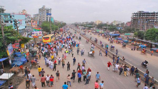 ঢাকা-সিলেট ও ঢাকা-চট্টগ্রাম মহাসড়ক বন্ধ